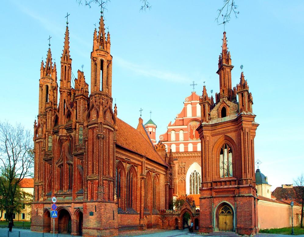 Общий вид, собор Святой Анны, Вильнюс