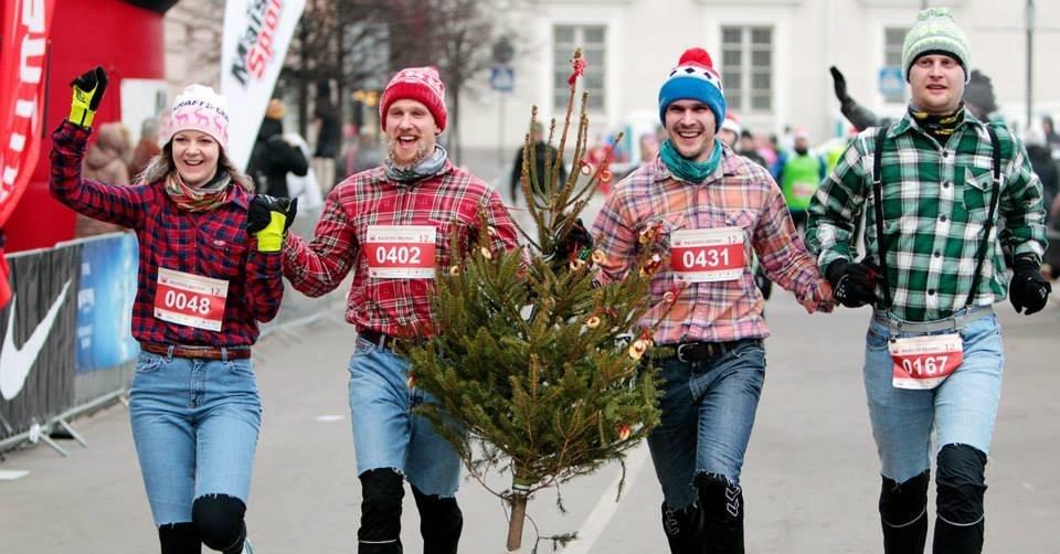 Рождественский юбилейный забег в Вильнюсе