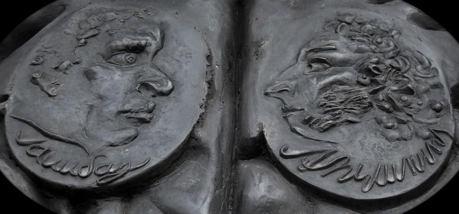Увеличенный фрагмент памятника в Пятницкой церкви