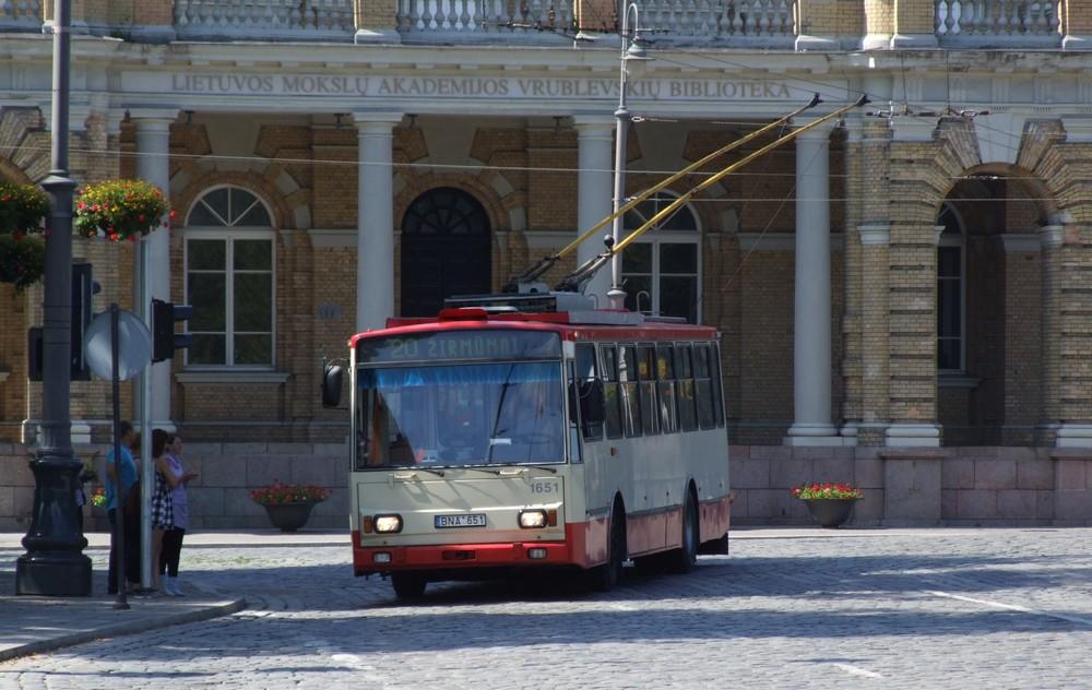 Общественный транспорт Вильнюса (карта)