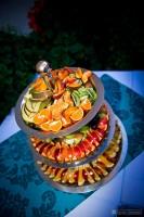 Красиво выставленные фрукты