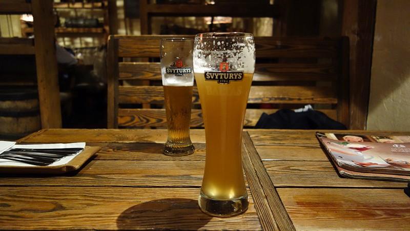 Вильнюс, пиво Svyturys