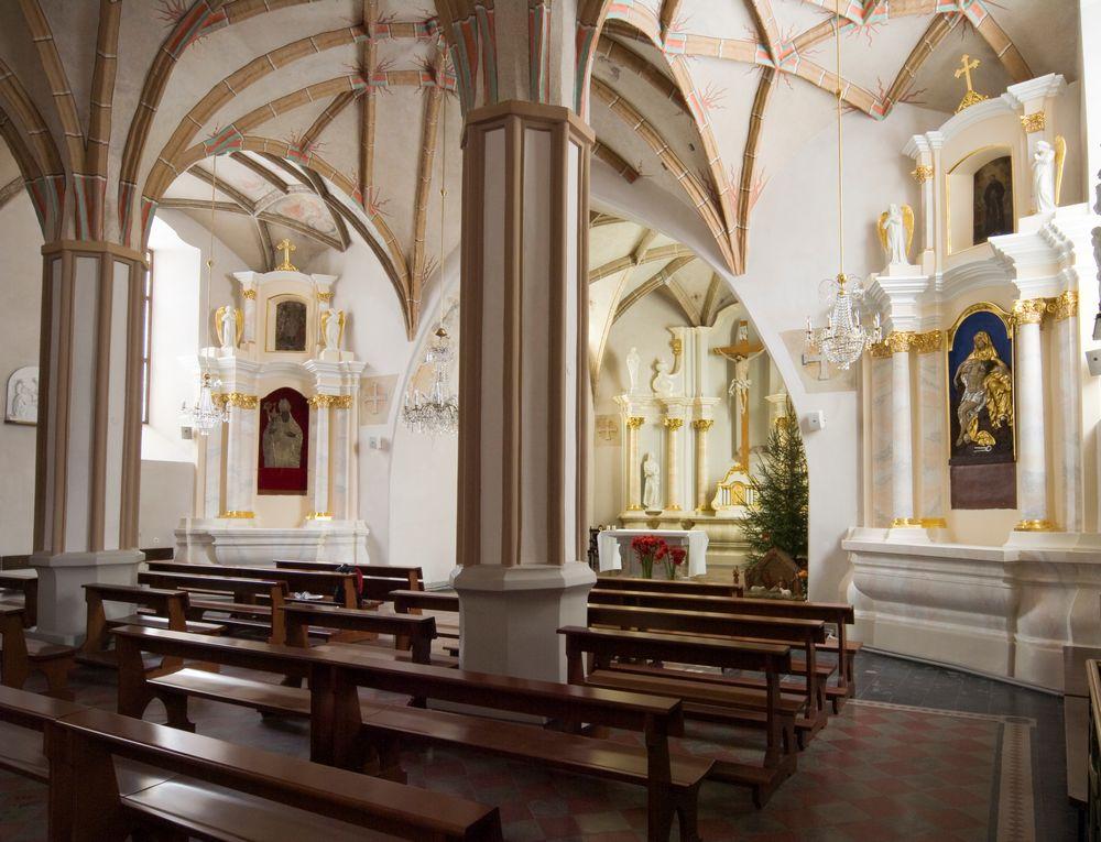 Внутри церкви Святого Николая в Вильнюсе