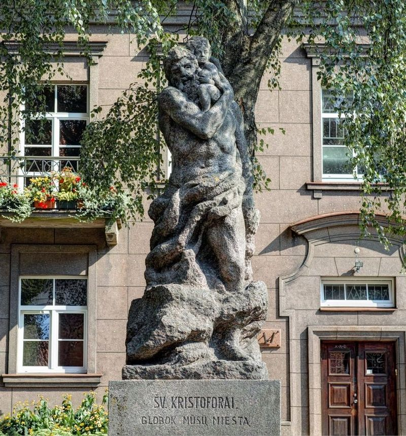 Скульптура Святого Христофора