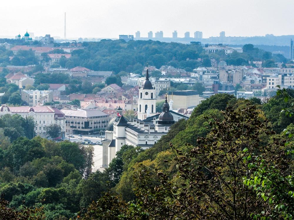 Вид с горы Трех Крестов