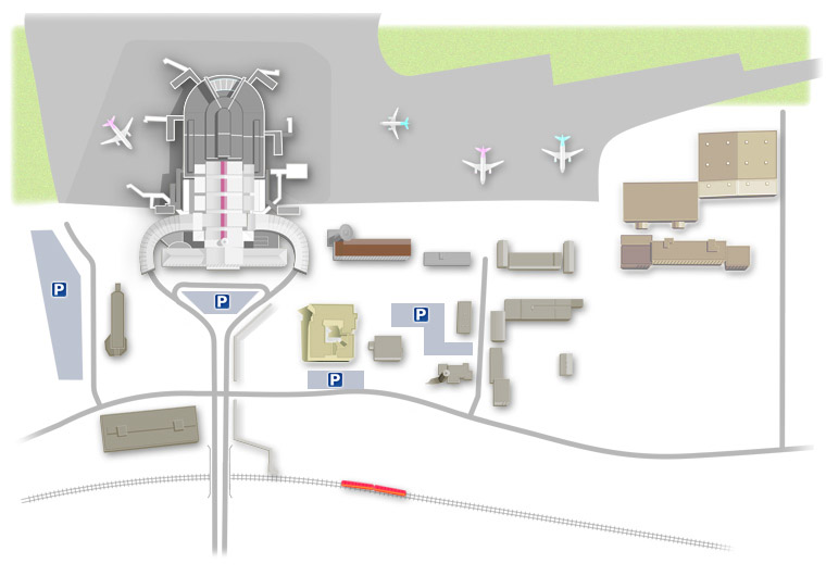 Схема парковки в аэропорту Вильнюса