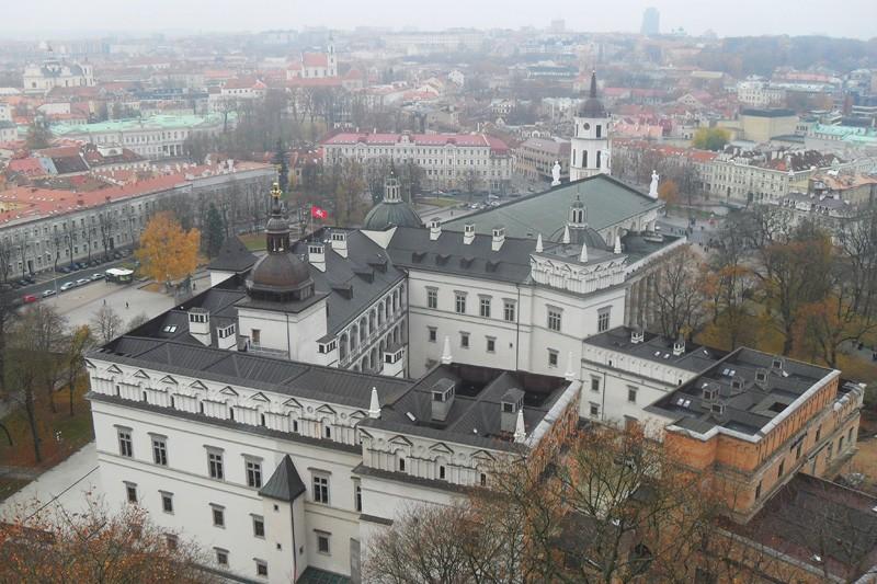 Вид на дворец с высоты