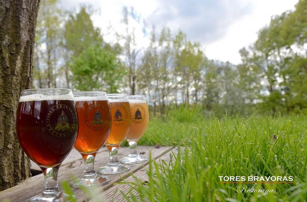 4 вида пива, ресторан Tores Bravoras
