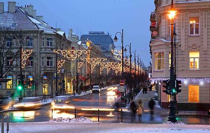 Улицы Вильнюса зимой