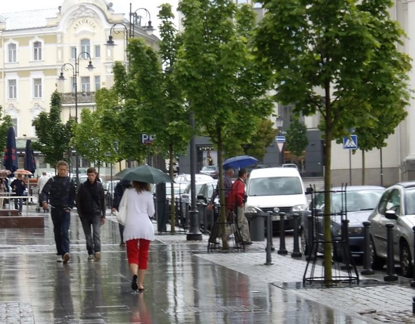 Вильнюс дождь