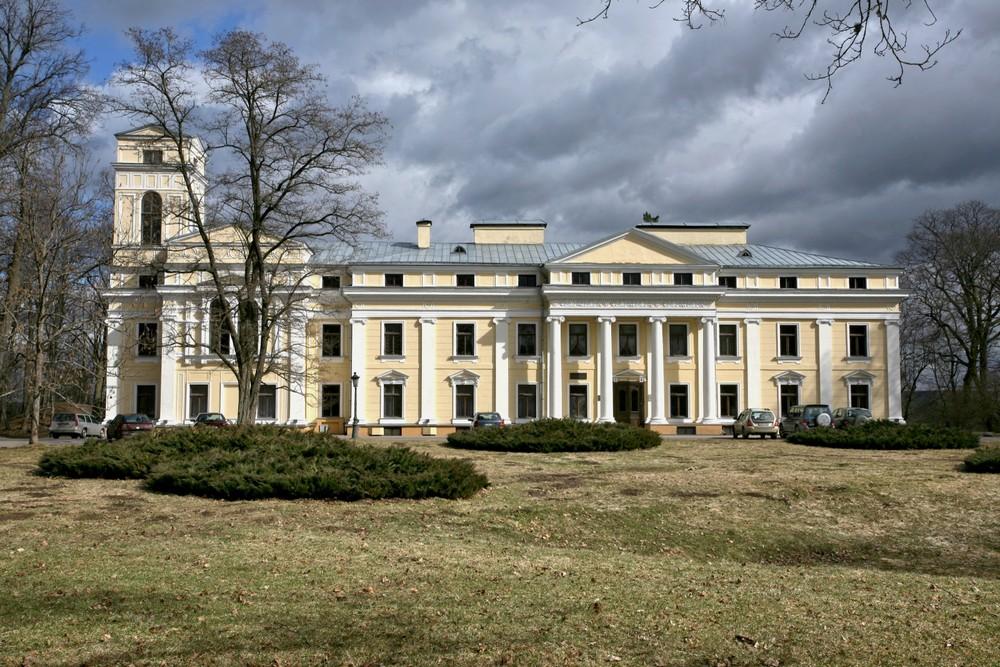 Замок, парк Вяркяй в Вильнюсе