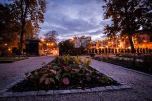 Бернардинский сад, вечером