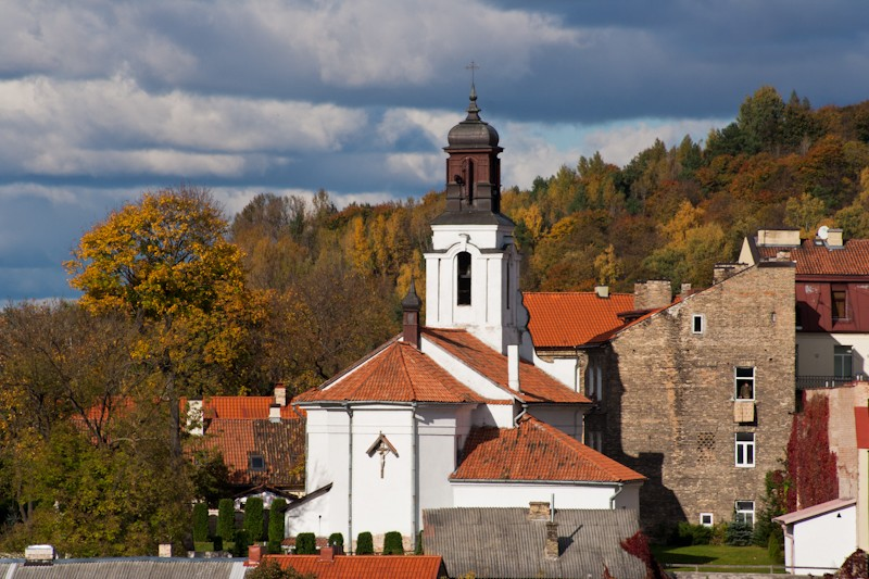 Костел Святого Варфоломея, издали