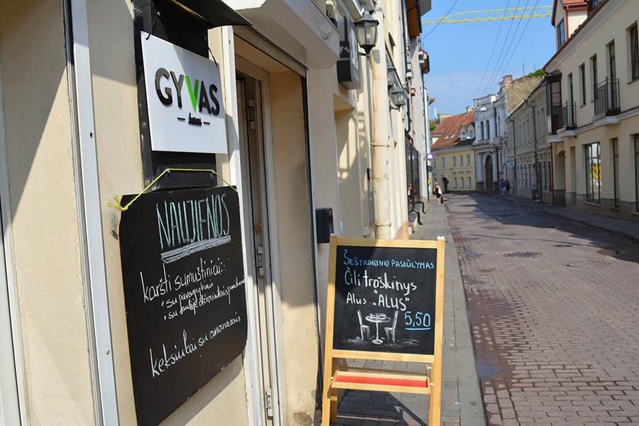 Gyvas Baras: кафе-ресторан для веганов и вегетарианцев в Вильнюсе