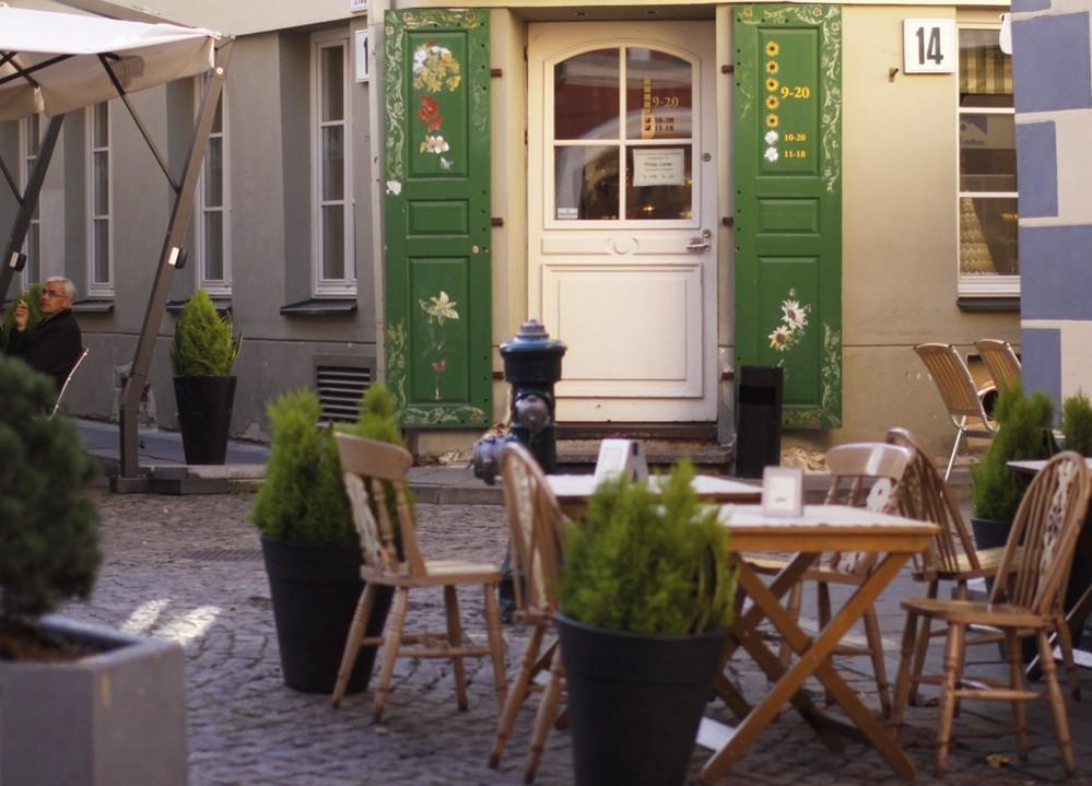 "Кафе ""Poniu Laime"" (""Госпожа удача"") в Вильнюсе"